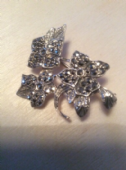 1950s Flowers Brooch - Silver and Marcasite